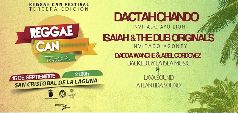 Reggae CAN Festival | La Laguna | 2017 | Cartel