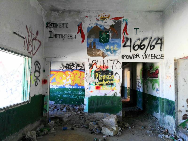 Sanatorio de Abades | Escudos militares