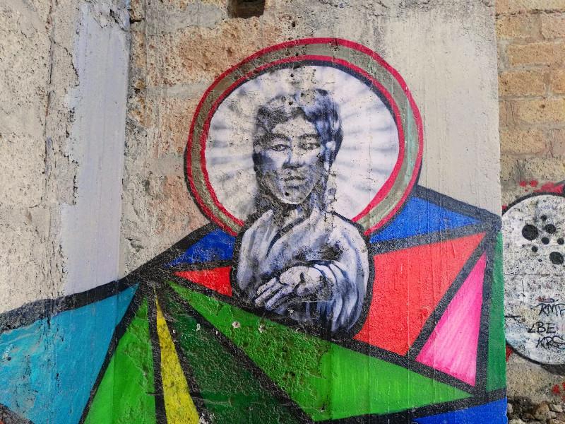 Sanatorio de Abades | Graffiti | Santo