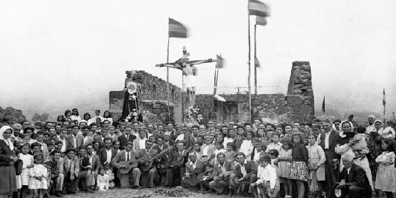 El Chinyero | Conmemoración de la erupción del volcán | Valle de Arriba | Santiago del Teide | Tenerife | Alrededor de los años 50
