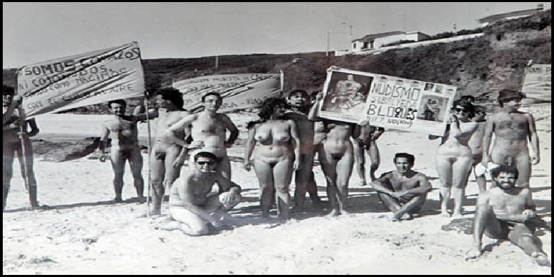 Reivindicaciones de nudistas en una playa gallega | Años 80