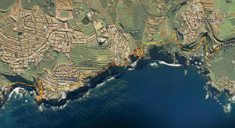 Rambla de Castro | Ruta del Sendero del Agua | Los Realejos | Mapa