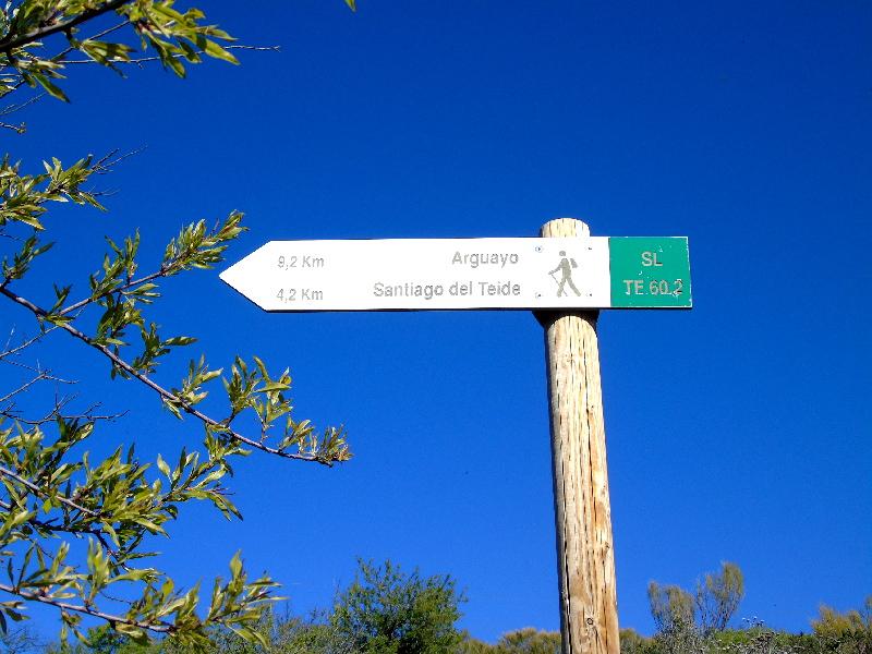 Ruta por la Montaña Bilma | Santiago del Teide | Señalizador ruta