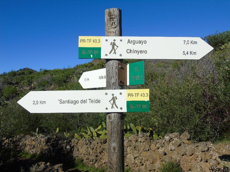 Ruta por la Montaña Bilma | Santiago del Teide | Señalizador