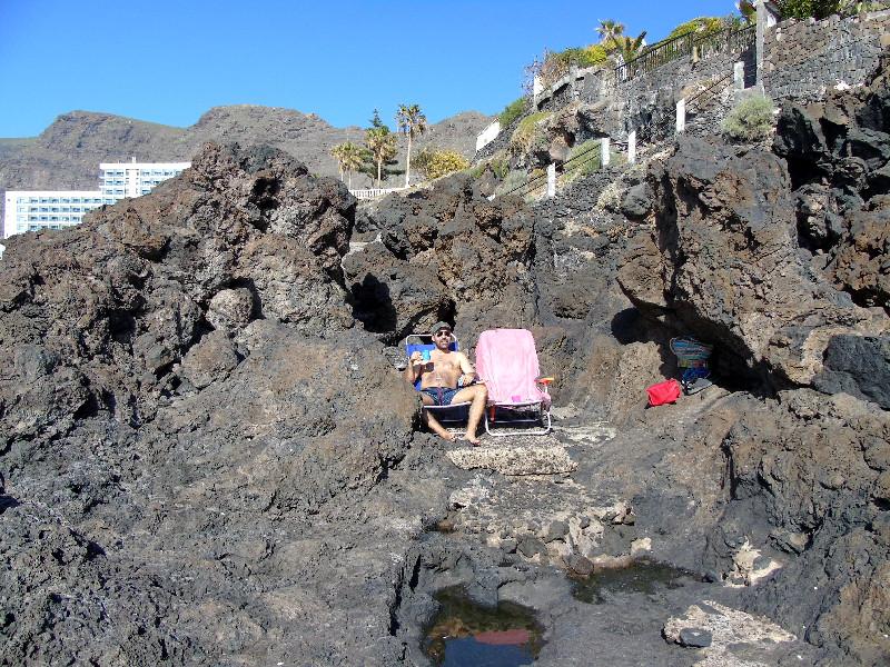 Charco de Isla Cangrejo | Los Gigantes | Recovecos en la lava