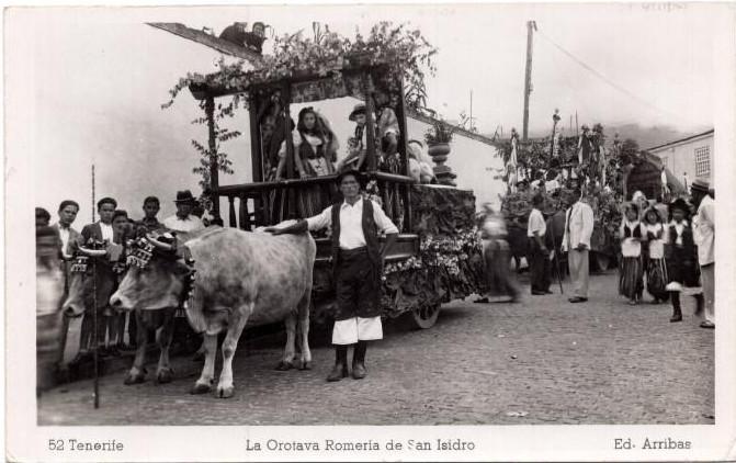 Romería de San Isidro Labrador | La Orotava | Postal antigua