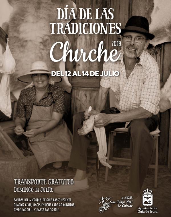 Cartel del Día de las Tradiciones de Chirche 2019