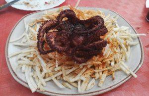 Guachinche La Huerta de Ana y Eva | La Matanza de Acentejo | Comer en Tenerife | Pulpo frito