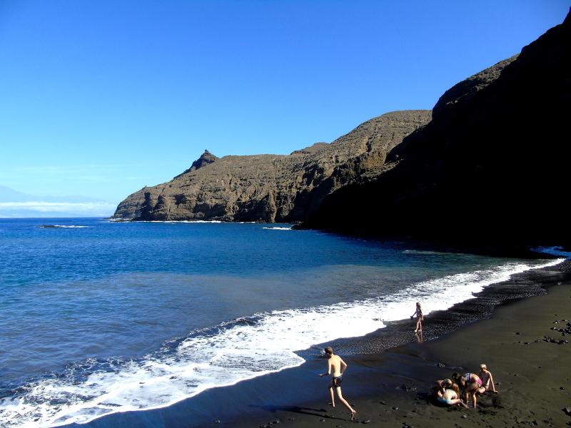 Guía de La Gomera | Playa de La Caleta | Hermigua