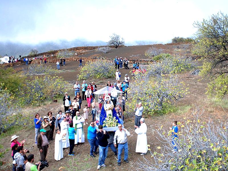Erupción del volcán Chinyero | Rogativa de Santa Ana | Calvario de Las Manchas | Santiago del Teide