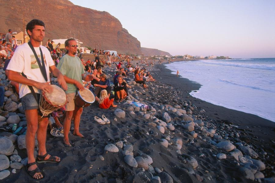 Playa de La Calera | Puesta de sol | Hippies | Valle Gran Rey | La Gomera | Islas Canarias
