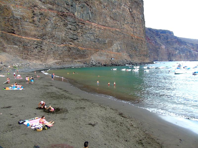 Playas para relajarse en La Gomera | Playa de Vueltas | Valle Gran Rey | Islas Canarias