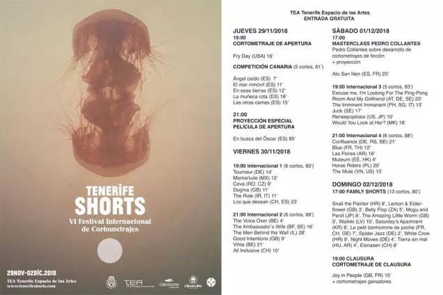 Tenerife Shorts 2018 | Festival Internacional de Cortometrajes | Programación