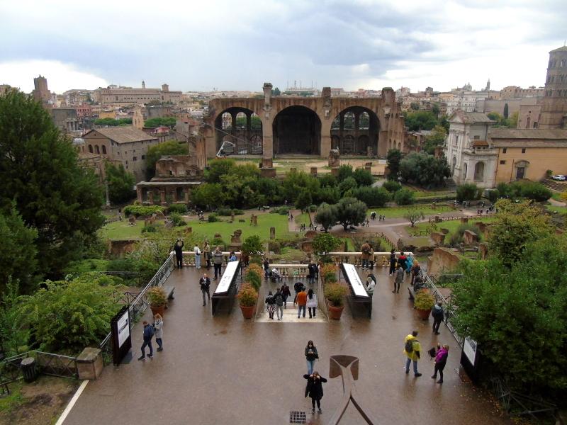 Foro y Palatino en Roma